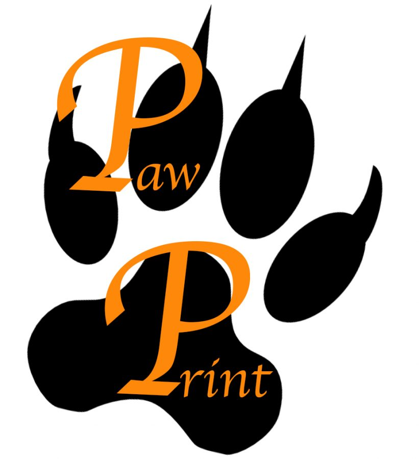 Look what I found! Its the original Woodside Paw Print logo! There are  sure to be stories from way back there on-site, so explore them this winter break!