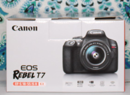 The Canon EOS Rebel T7 shoots videos in 1080 full high definition and captures photos up to 24.1 megapixels.