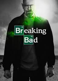 "A promotional poster for ""Breaking Bad"" featuring the main character, Walter White."
