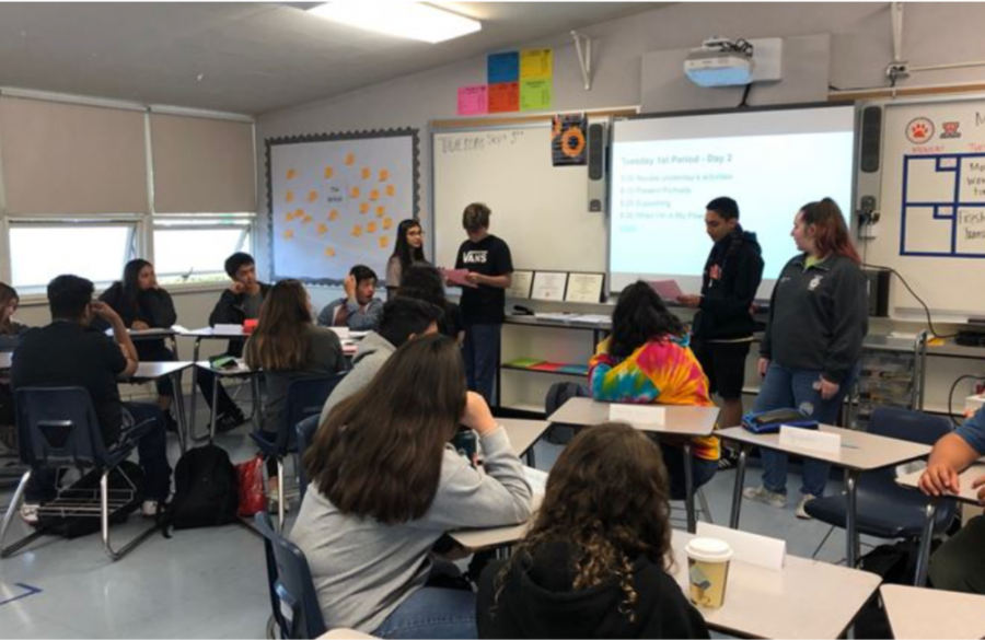 Freshman Transition, in which upper classmen present to WHS freshmen, made several changes to suit the challenges of 2020.