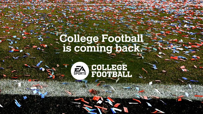 Above is the official announcement graphic for the return of EA College Football.