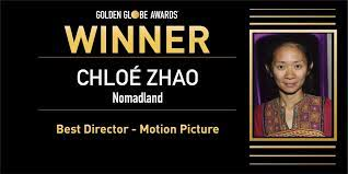Chloe Zhao won the 78th Golden Globe for Best Director.