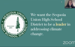 Katinka Lennemann introducing the presentation to the SUHSD Board of Trustees for their Climate Change Declaration and Resolution.