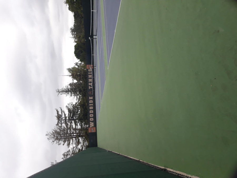 Woodsides newly remodelled tennis courts show a clean and polished look.
