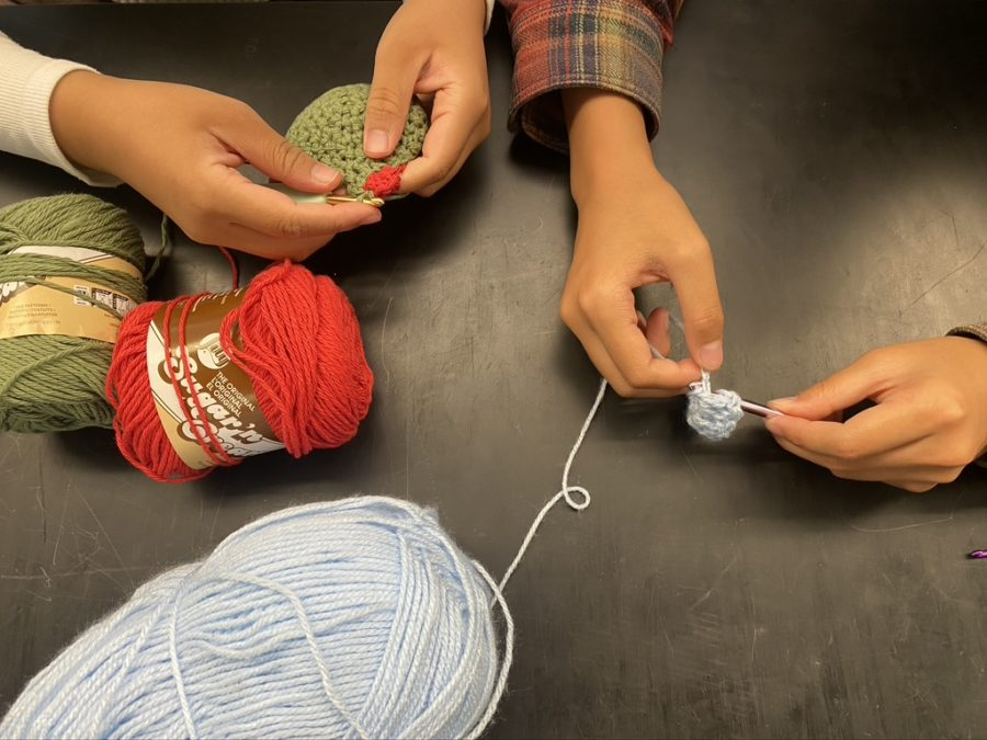 The crochet club welcomes people of all crocheting abilities to join their club.