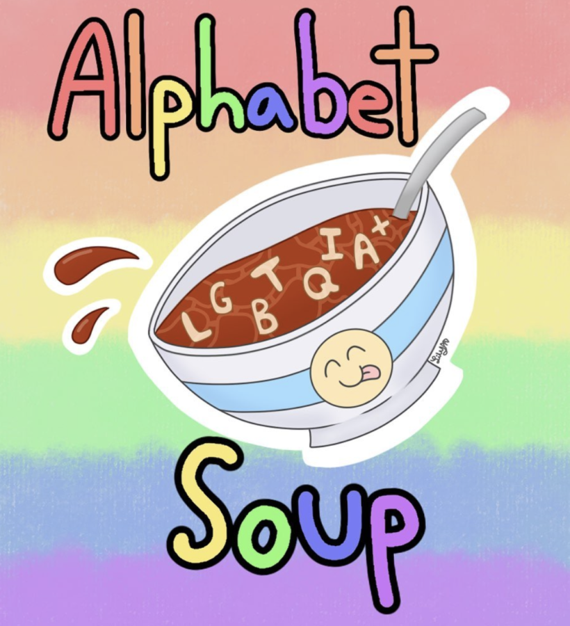 Promotional artwork showing a happy bowl including all members of the LGBTQIA+  community.