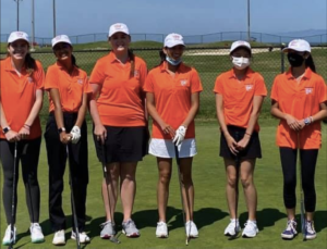 The newly formed Girls Golf team practices Monday through Friday.